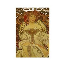 Dreams by Alphonse Mucha Rectangle Magnet