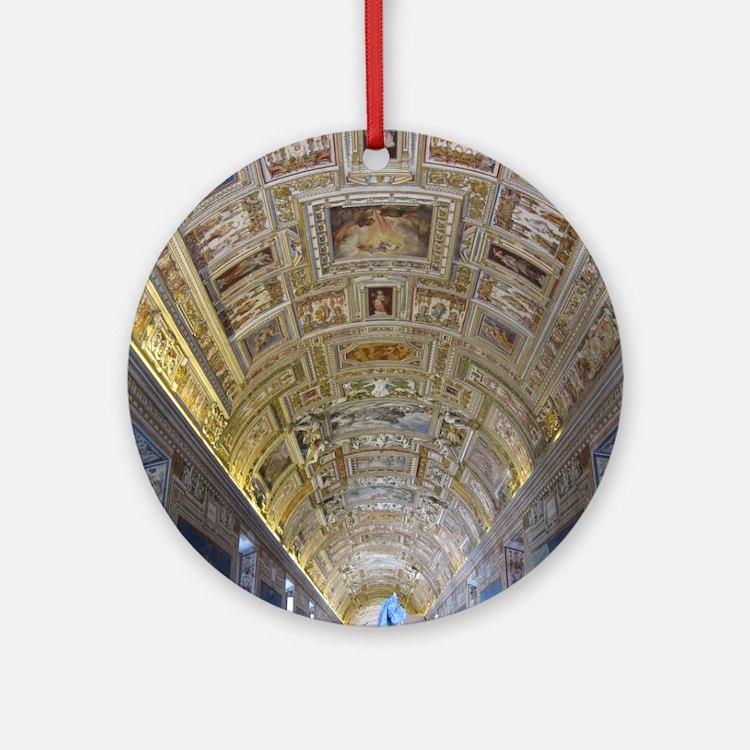 Vatican City Round Ornament