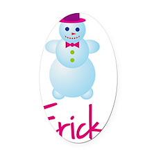 Ericka-the-snow-woman Oval Car Magnet