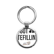 I Got Tefillin Round Keychain