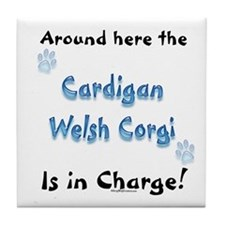 Welsh Corgi Charge Tile Coaster
