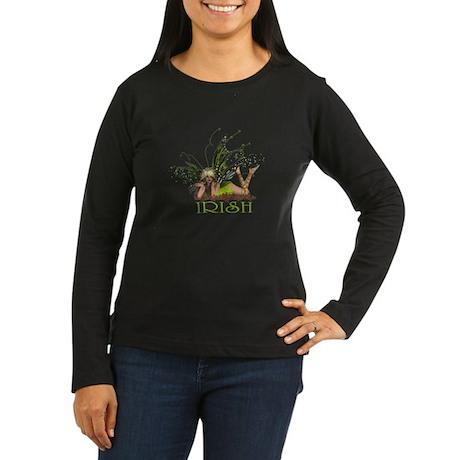 Irish Fairy Women's Long Sleeve Dark T-Shirt