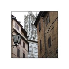 """Sienna Cathedral Square Sticker 3"""" x 3"""""""