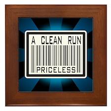 A Clean Run Priceless Framed Tile