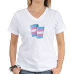 Flying Trans Pride Women's V-Neck T-Shirt