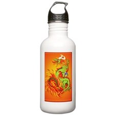 LargePosterFlaming Dra Water Bottle