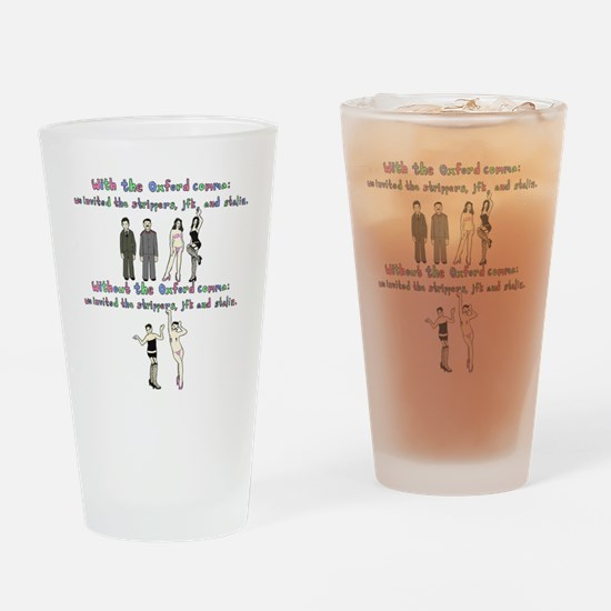 oxford comma Drinking Glass