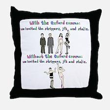 oxford comma Throw Pillow