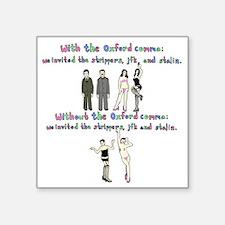 """oxford comma Square Sticker 3"""" x 3"""""""