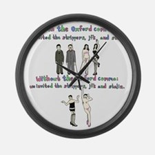 oxford comma Large Wall Clock