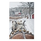 One horse open sleigh Postcards