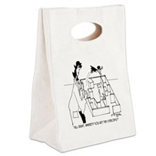 5406_lab_cartoon Canvas Lunch Tote