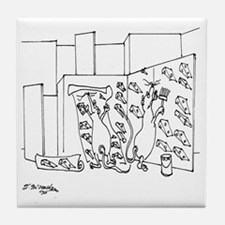 6097_lab_cartoon Tile Coaster