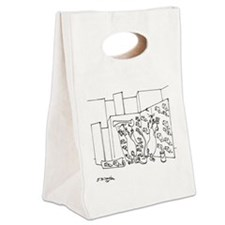 6097_lab_cartoon Canvas Lunch Tote