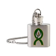 Easter Lily 1 Flask Necklace