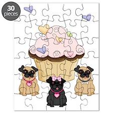 Cupcake Pug Dogs Puzzle