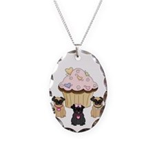 Cupcake Pug Dogs Necklace