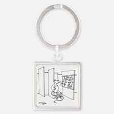 4647_lab_cartoon Square Keychain