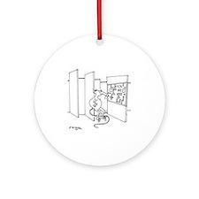 4647_lab_cartoon Round Ornament