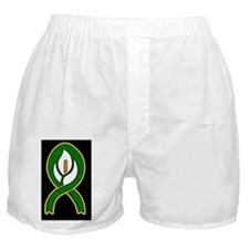 Easter Lily 1 (Rect Sticker black) Boxer Shorts