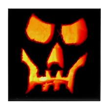 Spooky Halloween Skull Tile Coaster