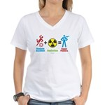 Super Powers Women's V-Neck T-Shirt