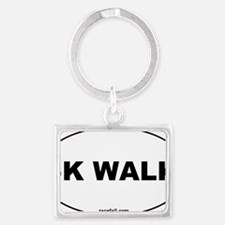 5K Walk Oval Sticker 3x5 Landscape Keychain