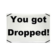 You got Dropped Oval Sticker 3x5 Rectangle Magnet