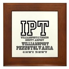 AIRPORT CODES - IPT - WILLIAMSPORT,PEN Framed Tile