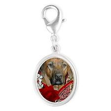 Valentine_Red_Rose_RhodesianRid Silver Oval Charm