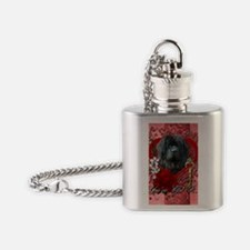 Valentine_Red_Rose_Newfoundland Flask Necklace