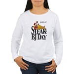 Steak & BJ Day Women's Long Sleeve T-Shirt
