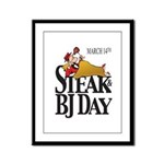 Steak & BJ Day Framed Panel Print