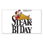 Steak & BJ Day Rectangle Sticker