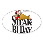 Steak & BJ Day Oval Sticker