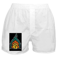 Easter Lily 2 (Black Rect Sticker) Boxer Shorts