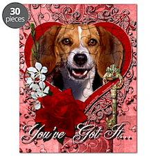 Valentine_Red_Rose_Beagle2 Puzzle