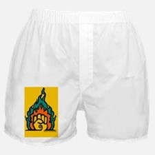 Easter Lily 2 (Yellow Rect Sticker) Boxer Shorts