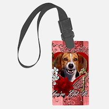 Valentine_Red_Rose_Beagle2 Luggage Tag