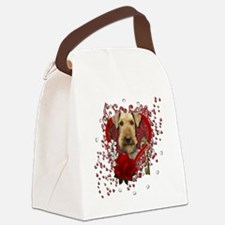 Valentine_Red_Rose_Airedale Canvas Lunch Bag
