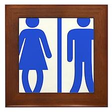 Bow Legged Woman Framed Tile
