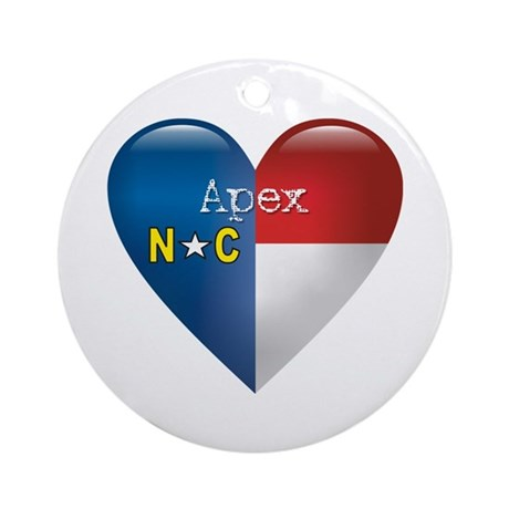 Love Apex North Carolina Ornament (Round)