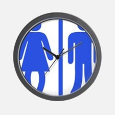 Bow Legged Woman Wall Clock
