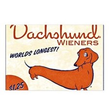 dachshund wieners Postcards (Package of 8)