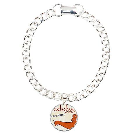dachshund wieners Charm Bracelet, One Charm