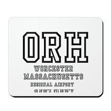 AIRPORT CODES - ORH - WORCESTER, MASSACH Mousepad