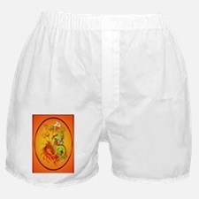 ornament_oval Flaming Dragon with Sym Boxer Shorts