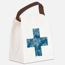 blue cross Canvas Lunch Bag