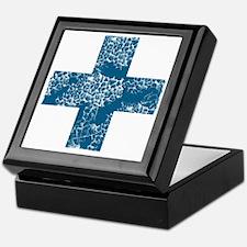blue cross Keepsake Box