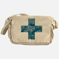 blue cross Messenger Bag